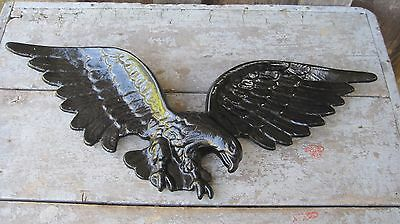 Vintage Mid Century Usa Made Metal Eagle Home & Garden Wall Plaque Sign
