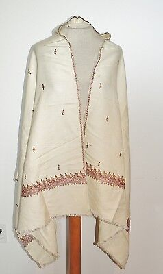 Victorian / Edwardian Silk / Wool Hand Embroidered Shawl