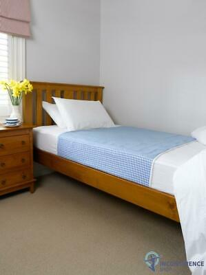 Brolly Sheets Single Bed Pad With Wings Blue