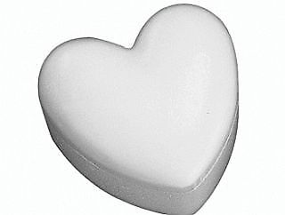 140mm Polystyrene Heart Box with Lid to Decorate | Styrofoam Shapes for Crafts