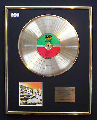 Led Zeppelin Houses Of The Holy Cd Gold Disc Record Display Free P&p