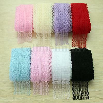 10 Yard Vintage Crochet Embroidered Trimming Sewing Lace Trim Ribbon Craft UK