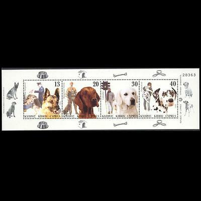 Cyprus 2005 Dogs Issue Mnh Booklet Pane (Without Carton)