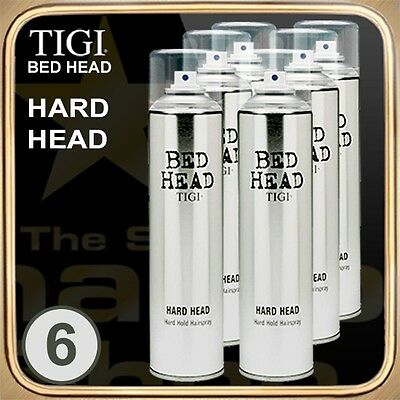 HARD HEAD Hard Hold Hairspray (385ml) BED HEAD TIGI Set of 6