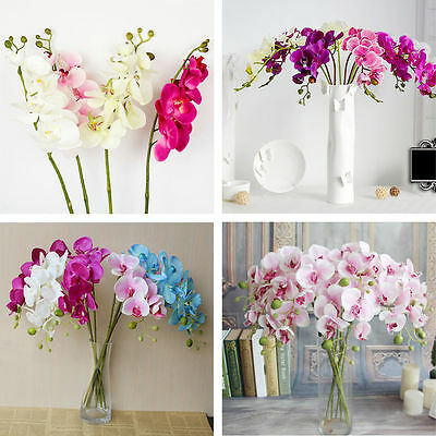 Beautiful Butterfly Orchid Silk Flower Home Wedding Party Phalaenopsis Bouquet