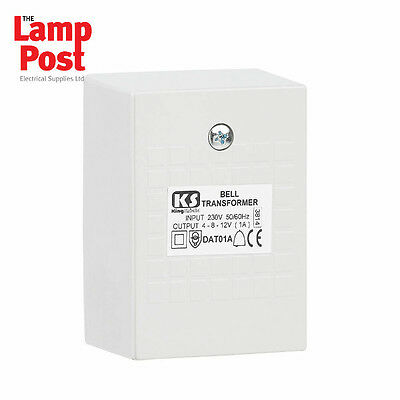 Greenbrook dat01a door bell chime transformer 4 8 12v ac for 12 volt door chime