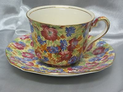 ROYAL WINTON - Royalty - Floral Chintz - ASCOT CUP & SAUCER Set - 1054