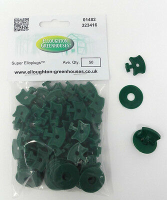 50 Super Elloplugs™ Greenhouse Insulation / Shading Clips with Washers