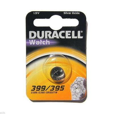 Duracell 395/399 Silver Oxide 1.5V Coin Cell Battery Carded 1