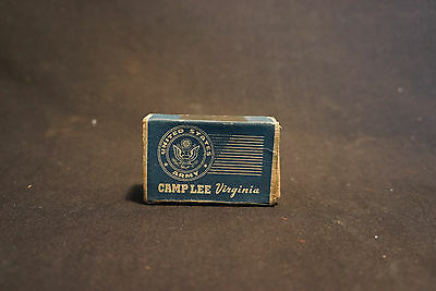 EMPTY Old Vtg United States Army Camp Life Virignia Matches Box Military