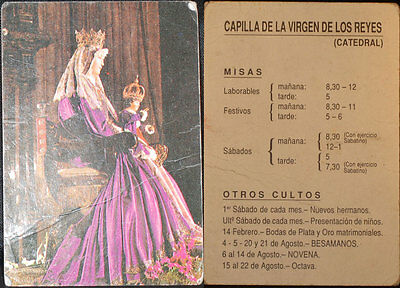 Old Virgin Of The Kings Holy Card Andachtsbild Santini Estampa See My Shop Cc580