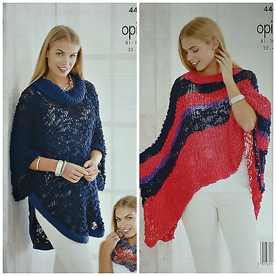KNITTING PATTERN Womens Cowl Neck Cape and Cowl/Snood Opium 4468