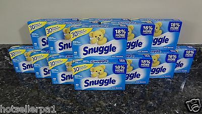 640 Snuggle BLUE SPARKLE Scent Fabric Softener Sheets (16 boxes 40 count each)