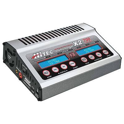 Brand New Hitec X2-700 700 Watt Dual Port Dc Rc Airplane Battery Charger 44239