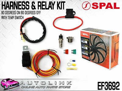 Spal Ef3692 Wiring Harness & Relay Fuse Kit With Temp Switch Suits Spal Fans