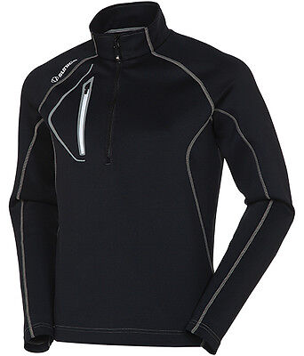 Sunice Allendale Lightweight Thermal Pullover Black Large- golf outerwear