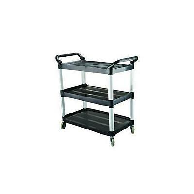 Utility Trolley Black Plastic 3 Shelf, CaterRax, Kitchen / Catering / Restaurant