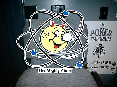 Reddy Kilowatt Power The MIGHTY ATOM Electric SIGN ELECTRICIAN GIFT