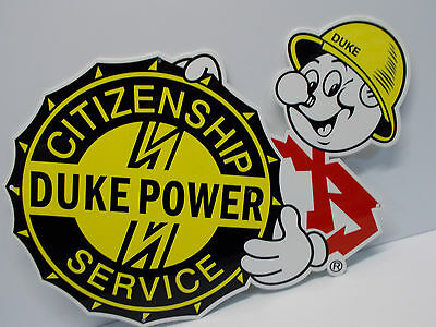 Reddy Kilowatt DUKE POWER ELECTRIC LIGHT COMPANY DIE CUT SIGN ELECTRICIAN GIFT