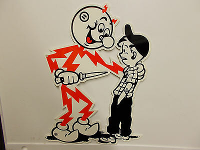 Reddy Kilowatt KNIFE SAFETY POWER ELECTRIC LIGHT COMPANY ELECTRICIAN GIFT SIGN