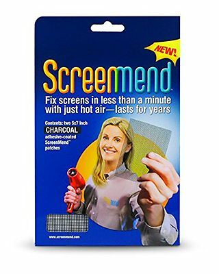 """Window Screen Repair Kit, 5"""" x 7"""" Patch, Charcoal by Screenmend (AOI)"""