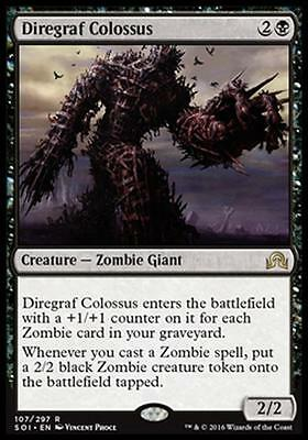 COLOSSO DEL CIMITERO DI GUERRA - DIREGRAF COLOSSUS Magic SOI Shadow of Innistrad