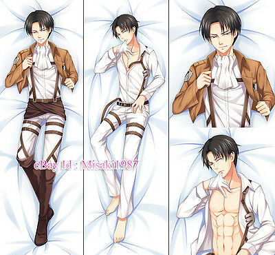 Attack On Titan Shingeki no Kyojin Dakimakura Levi Anime Body Pillow Case 03