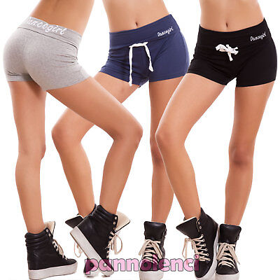 ca864f110f6d36 Pantaloncini donna shorts sport dance elastici fitness hot pant sexy nuovi  T881