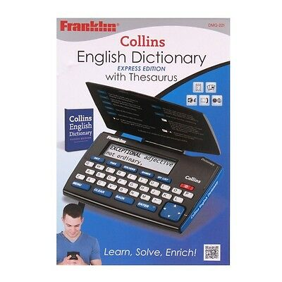 Electronic Pocket English Dictionary and Thesaurus - Franklin Collins Express