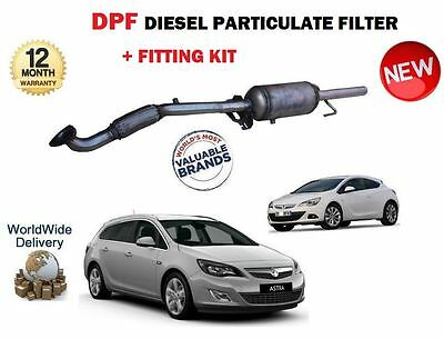 For Vauxhall Opel Astra J 1.7 Cdti 2009-  New Dpf Diesel Soot Particulate Filter