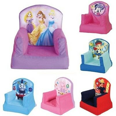Official Disney And Character Childrens Cosy Chairs Inflatable Bedroom Furniture