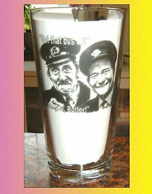 ON THE BUSES Blakey and Stan PINT SIZE BEER GLASS