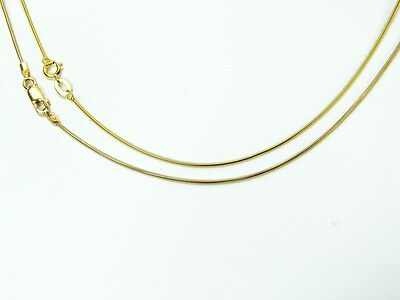 9ct Yellow Gold Round Snake Chain 16 18 20inch.  Various Width / Weight