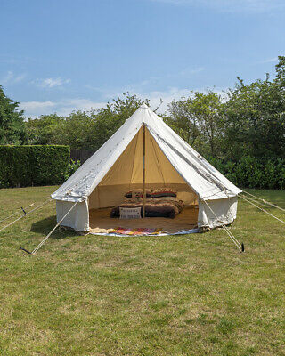 4M Canvas Bell Tent Bushcraft Camping Scout Reenactment Groundsheet Included