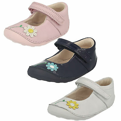 Girls Clarks Little Jam Hook & Loop Casual Cruisers Mary Jane First Shoes Size