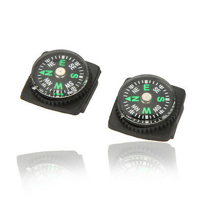 2 x Mini Compass watch strap compass for camping hiking hill walking