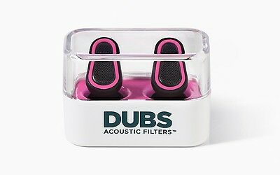 DUBS Acoustic Filters 12 dB Noise Reduction Ear Plugs - Pink