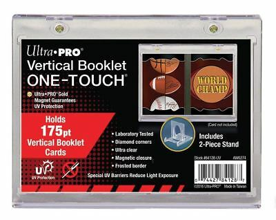 Ultra Pro 175pt Vertical Booklet Magnetic One-Touch Card Holder + Stand + UV