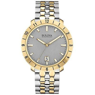 Bulova Men's 98B216 Accutron II Moonview Two-Tone Case Grey Dial Watch