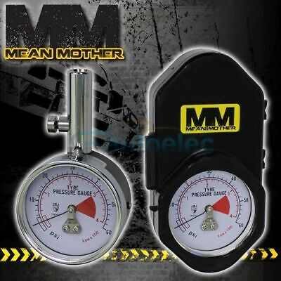 Mean Mother Heavy Duty Tyre Tire 4X4 4Wd Pressure Gauge Tool Carry Case Mmtg60