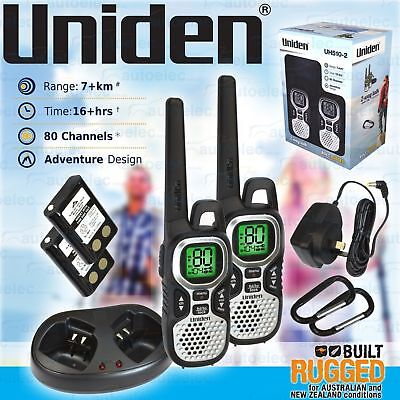 Uniden Uh510-2 Handheld Uhf Two Way Compact Radio Walkie Twin Pack 80Ch Channel