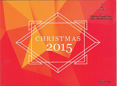 Stamps Australia 2015 Christmas limited edition post office pack Canberra No1