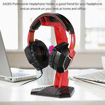 SADES Profesional Auriculares Headphone Stand Juego Soporte para Sony AKG M5I3
