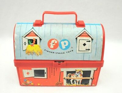 Vintage 1962 Fisher Price Mini Lunch Box