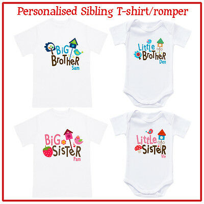 personalised t-shirt / romper - Big Brother / Sister, Little Brother / Sister