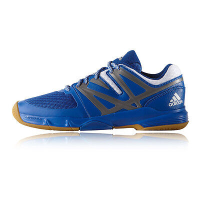 Adidas Adipower Stabil Junior Blue Badminton Indoor Sports Shoes Trainers