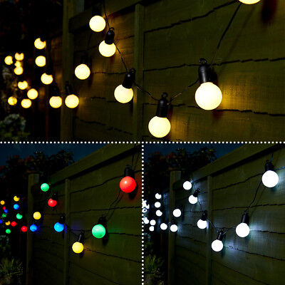 5M Plug In Outdoor Indoor Wedding Party Festoon Globe Fairy String 20 Led Lights