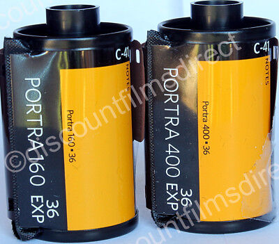 Kodak Portra 160 & 400 35mm 2 Film Colour Print Film Starter Pack 1st CLASS POST