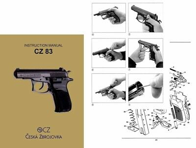 CZ-83 Double Action Czech Pistol Manual in English