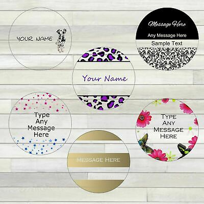 Personalised Clear transparent Colour Circular stickers/labels - 35 per sheet